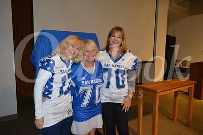 San Marino Titan Football Moms Cindy Sabin, Beth Davis and Cythia Ary 306