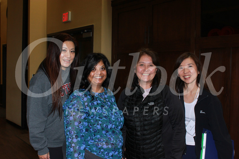 Sylvia Koh, Sri Abboy, Nancy Campana and Wendy Tanouye