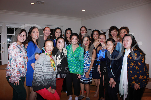 Active members include (front row, from left) Tieu-My Nguyen, Diana Han, Jane Feinberg, Cheryl Hom, Maria Villamil, Jennifer Park and Carol Chung  Back Christine Song, Brenda Ho, Cori Solan, Martha Ch