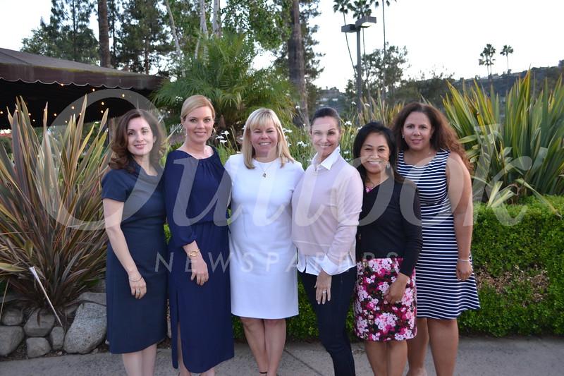 2018-19 board members include Myrna McLane, Elizabeth Karr, President Alison McCrary, Maricel DeCardenas, Salve Flores and Stephanie Ginn.
