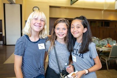 Julia Moller, McKayla Hernandez and Ally Copeland