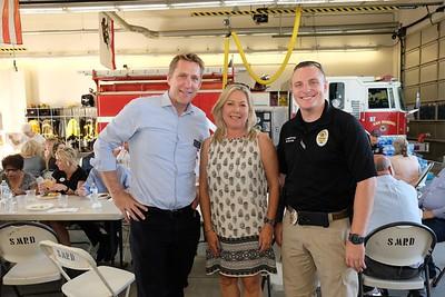 Russ Osmonson, Councilwoman Gretchen Shepherd Romey and Jeremy Bestpitch