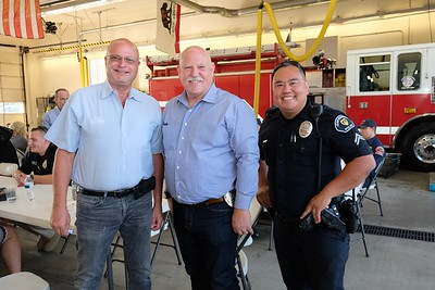 Phil Raacke, Police Chief John Incontro and Ken Wu
