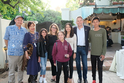 Paul and Annie Brassard, Tara and Fary Yassamy, Cassandra Huang, and Sean, Richard and Alexander Lord