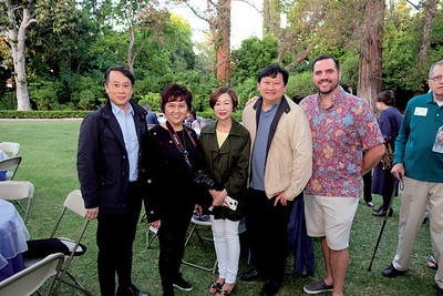 Mayor Steven Huang, Grace Yang, Rotary President Fang Ho, David Wang and Rotary President-elect Greg Johansing