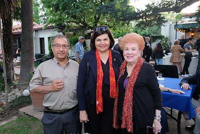 Mehrdad and Gilda Moshir with Lucille Norberg