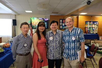 Eugene Sun, Lisa and David Wang, and Paul Brassard