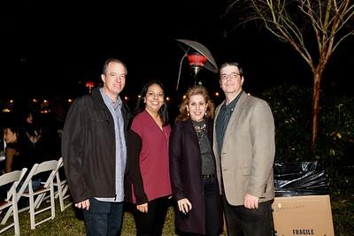 Matthew and Christina Pink with Lulu and Joseph Cates