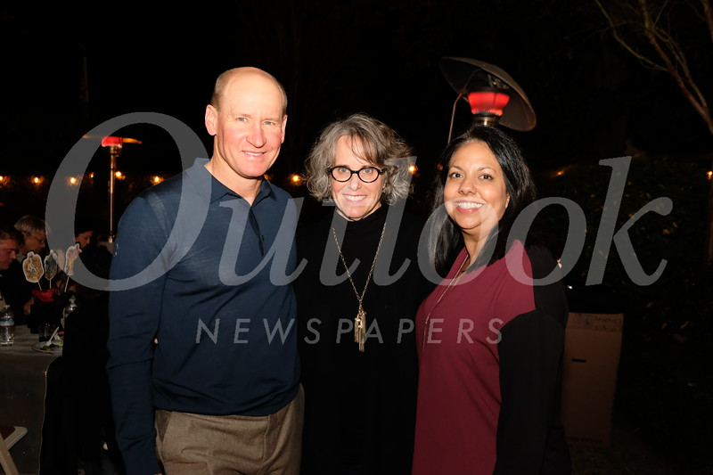 Kickoff party hosts Bob and Karen Wicke with party chair Christina Pink