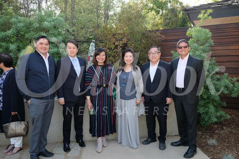 Calvin Lo, San Marino Mayor Steven Huang, Ying Ying Lin, Vanessa Koo, C. Joseph Chang and Tony Hsu