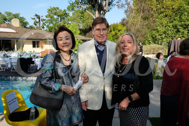 Janice and Brian McMahon with San Marino Vice Mayor Gretchen Shepherd Romey