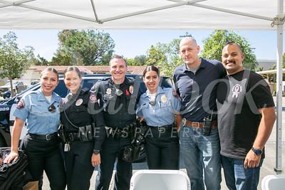 Cadet Mariah Felix, Officer Nia Hernandez, Cpl. Jeremy Bestpitch, Cadet Jocelyn Serrano, Cmdr. Aaron Blondé and Naved Qureshi