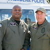 Sgt. Brad May and pilot Steve Thurston of the Pasadena Police Department