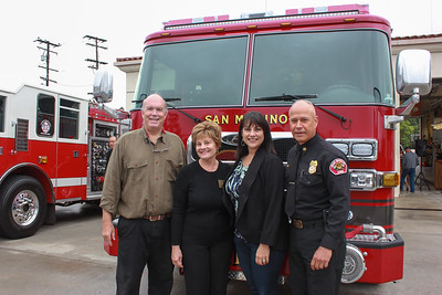 Mayor Steve Talt, City Councilwoman Susan Jakubowski, City Manager  Marcella Marlowe and Fire Chief Mario Rueda