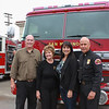 Mayor Steve Talt, City Councilwoman Susan Jakubowski, City Manager <br /> Marcella Marlowe and Fire Chief Mario Rueda