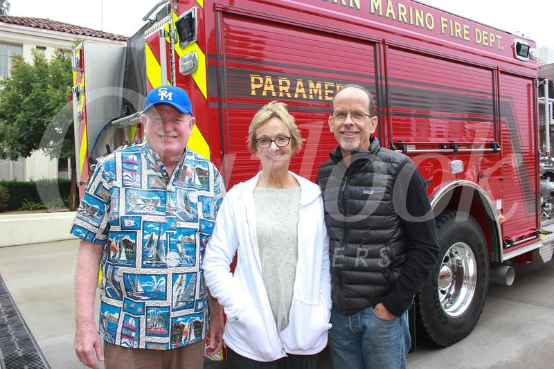 Bob Houston with Lisa and Pete Loeffler