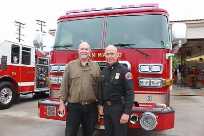 Mayor Steve Talt and Fire Chief Mario Rueda