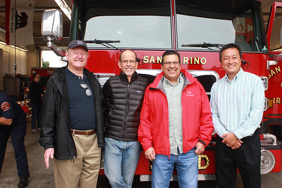 Public Safety commissioners Al Boegh, Pete Loeffler, Eugene Ramirez and Hunter Chang