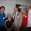 Scott Kwong, Molly Woodford, Police Chief John Incontro, and Nicole and Teddy Basseri