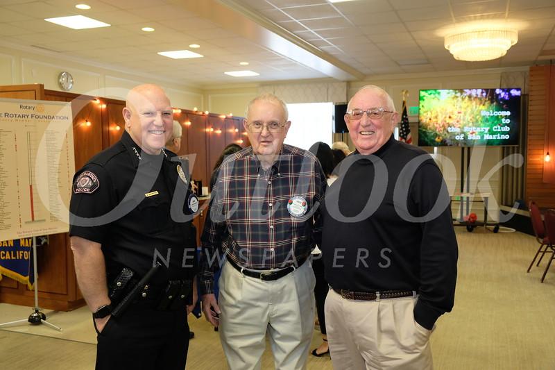 Police Chief John Incontro, Fritz Seares and John Jones