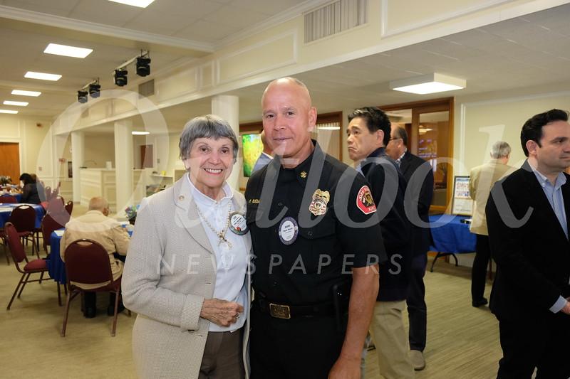 Lois Matthews and Fire Chief Mario Rueda