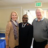 Kimberly Darian, Salvation Army Capt. Terry Masango and Emile Bayle