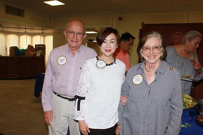 Larry Jones, Rotary President Fang Ho and Mireya Jones