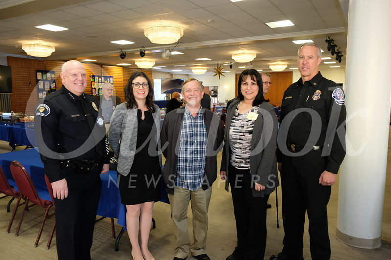 Police Chief John Incontro, Assistant to the City Manager Amanda Fowler, Parks and Public Works Director Michael Throne, City Manager Marcella Marlowe and Division Chief Eric Zanteson