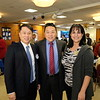 Mayor Steven Huang, Jonathan Duong and City Manager Marcella Marlowe
