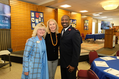 Salvation Army Director of Capital Campaign Robin Dunn, Salvation Army Pasadena Hope Center Project Co-Chair Kimberly Darian and General Secretary Major Osei Stewart