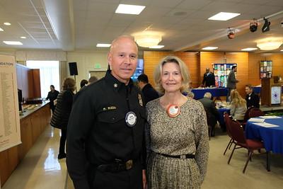 Fire Chief Mario Rueda and Stephanie Johnson