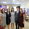 Christine Kim, October Rotary Student of the Month Katherine Choi, SMHS Assistant Principal Soomin Chao, November Rotary Student of the Month Baxton Chen and Yvonne Chen