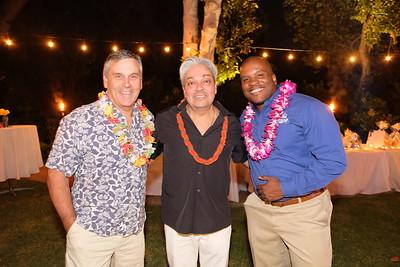 Tom Carter, Jules Buenabenta and Principal Issaic Gates