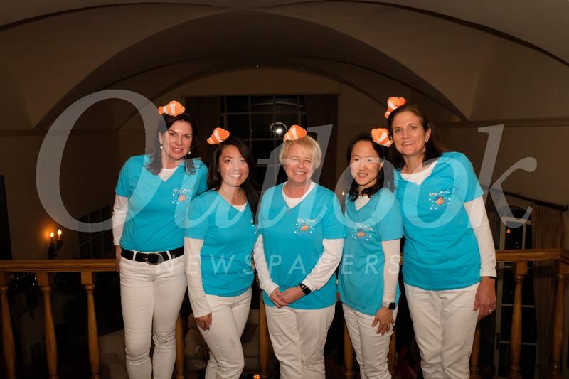 Grad Night chairs Birgit Woodward, Jennifer Chuang, Beth Davis, Jane Chon and Michele Carter