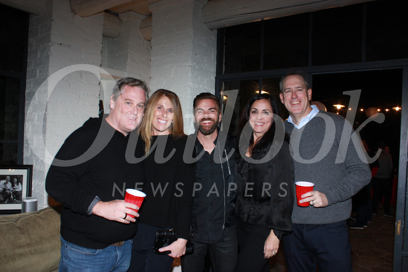 Sean and Andrea Moriarty, Steve Anderson, and party hosts Jennie and Chris McNulty