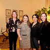 Program chair Birgit Woodward, guest speaker Annette Ermshar, program chair Shana Bayat and Cintia Dias