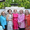"""La Vie en Rose"" committee members Phyllis Crandon, Barbara Phillips, Janet Stanford, Charlotte McDonald and Cheryl Nickel"