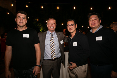Cole Harris, Superintendent Jeff Wilson, David Wang and Allen Chi