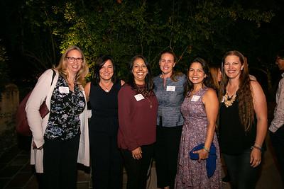 Stefanie Killackey, Nicollette Fuerst, Christina Pink, Schools Foundation President Erin Bilvado, Michiko Lee and Lauren Shen