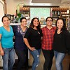 Yolanda Gonzalez, Linda Zadoian, Eva Vasquez, Rose Escajeda and Susanna Kwan of San Marino Café & Marketplace