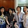 Shelly Kuang, Fan Jing, Sandra Cheng and San Marino Toastmasters President Ming Jiang