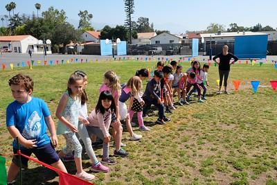 1 First graders at the starting line
