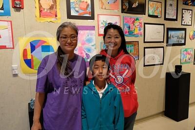 4 Elementary Art Specialist Kaye Ogita with Anna and Adam Li