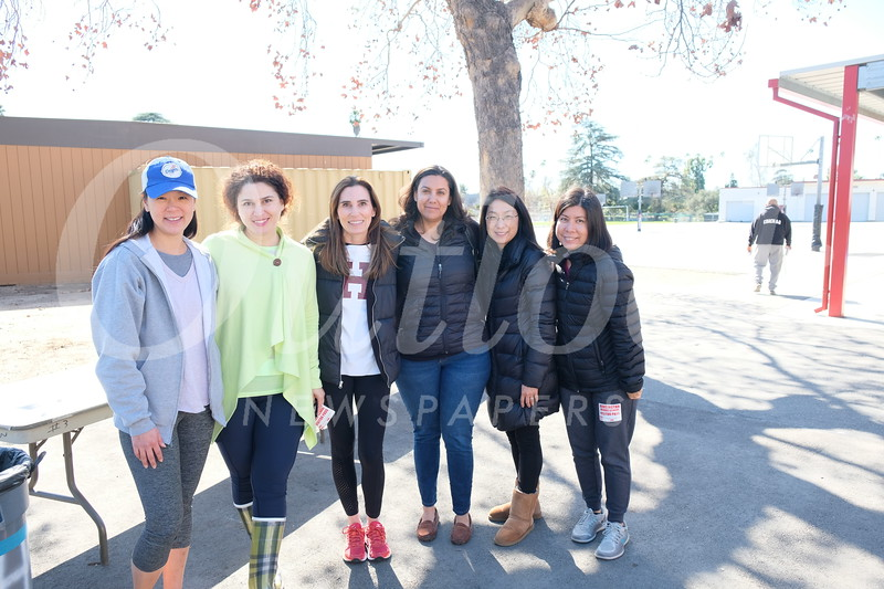 Noontime Fun chairs Jennifer Kang and Grace Karkafi with parent volunteers Amy Morris, Jessica Arody, Sara Lee and Michelle Liong