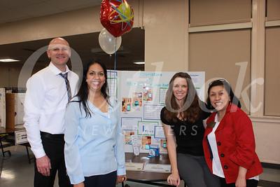 0627 Principal Jason Kurtenbach, PTA President Christina Pink, Science Fair Chair Alexis Anvekar and school board member Shelley Ryan