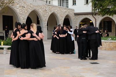 19 Pre-concert huddle