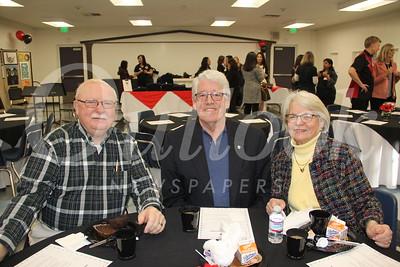 Bill Mann with John and Sandy Morris