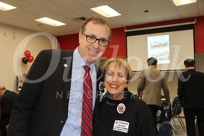 Superintendent Alex Cherniss and Stephanie Duncan