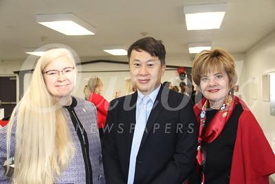 Denise Wadsworth, Dr  Steven Huang and Susan Jakubowski