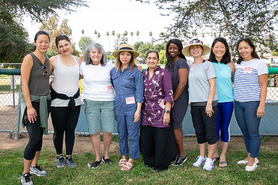 PTA members and parent volunteers Jennifer Kang, Grace Karkafi, Marie Magrdchian, Stacey Seow, Channi Kaur, Therese Dodds, Rosemary Lay, Sharon Liu-Morris and Cathy Newton